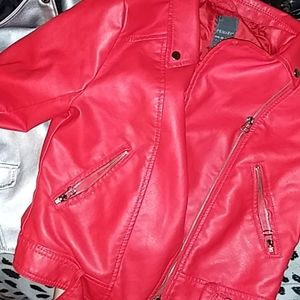 Leather red jacket